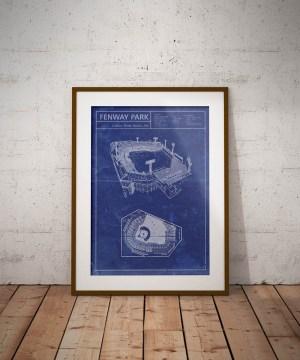 Fenway Park vintage blueprint poster