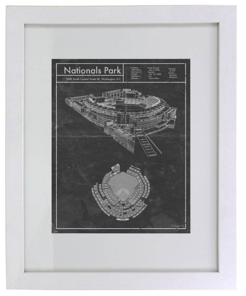 Vintage Nationals Park blueprint