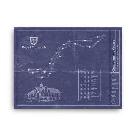 Royal Dornoch Golf vintage blueprint