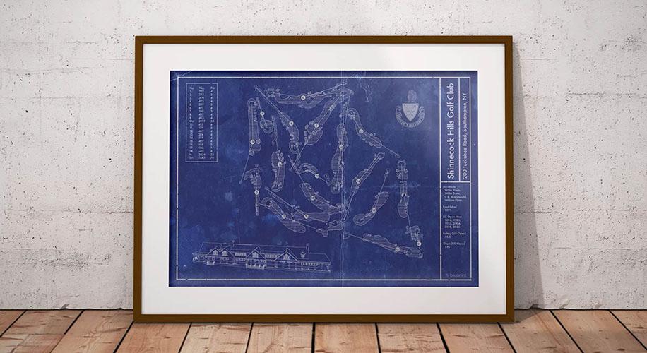 Shinnecock Hills Blueprint Poster