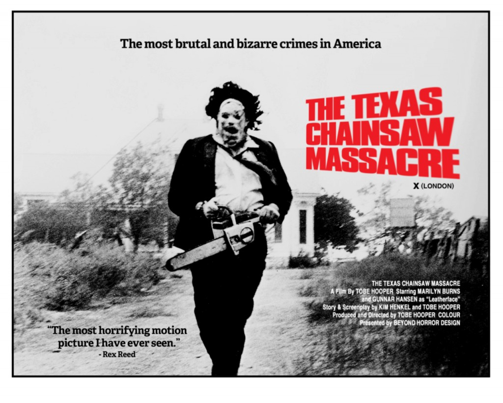 Texas Chainsaw Massacre uk poster