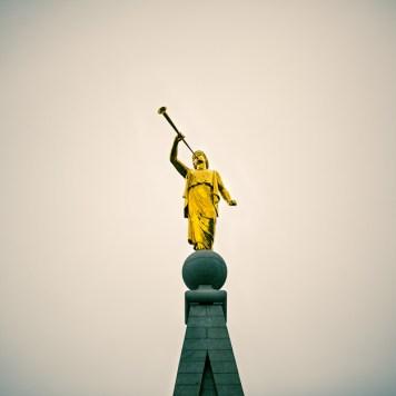 Clarion - Moroni atop the Salt Lake LDS Temple | Blurbomat.com