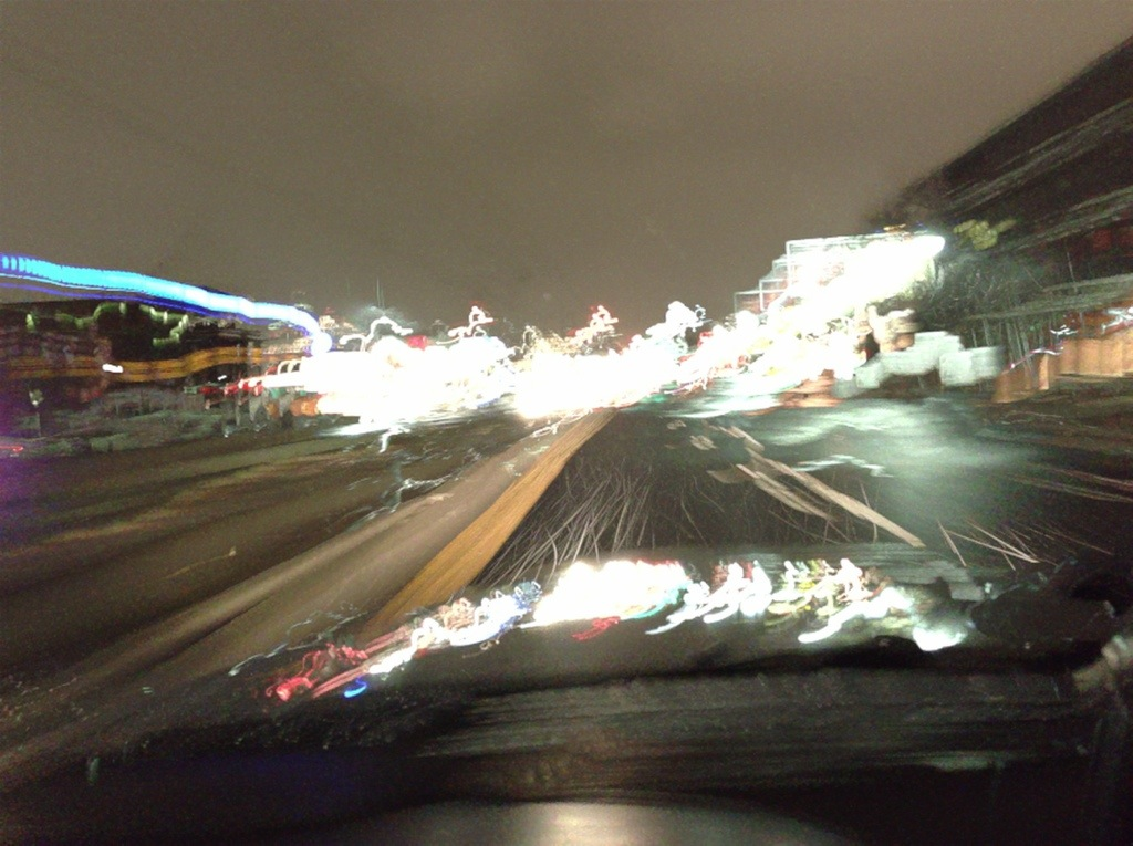 One or Two Seconds of Driving in a Snowstorm