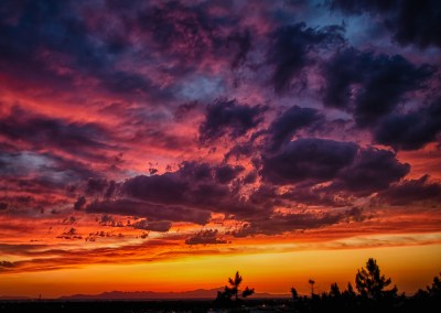 Vivid HDR sunset shot looking toward the Great Salt Lake, | Blurbomat.com