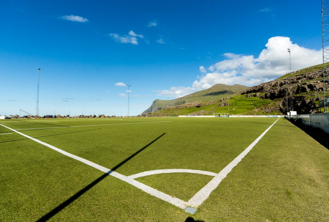 At Eiði football pitch, Faroe Islands. - Blurbomat.com