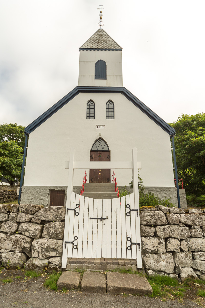 The church in Kvívík, Faroe Islands - Blurbomat.com