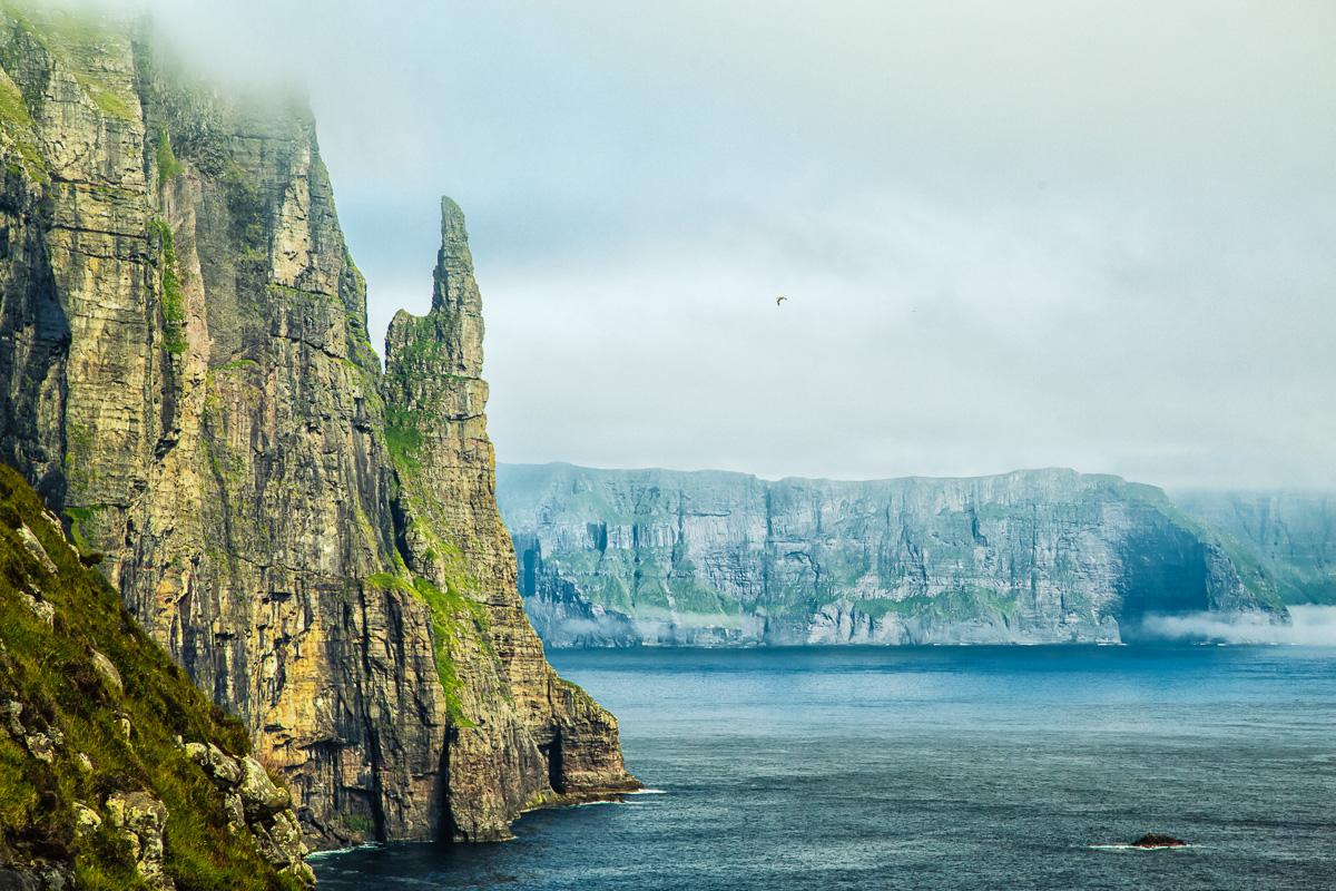 Faroe Islands, Sandavágur, Witch's Finger