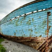 Blue Boat in Fuglafjørður, Faroe Islands | Blurbomat.com