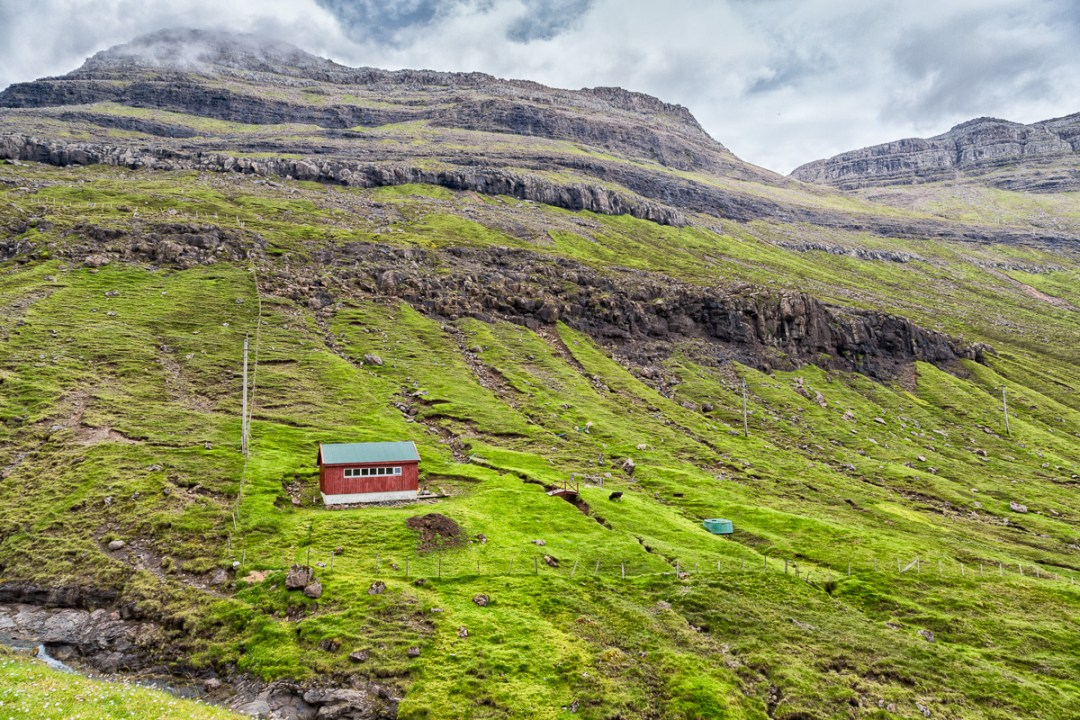 Red barn, Borðoy, Faroe Islands. by Jon Armstrong for Blurbomat.com.
