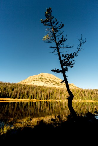 Mirror Lake with Bald Mountain in background
