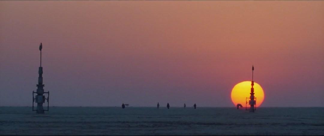 Desert sunset reminiscent of Tatooine