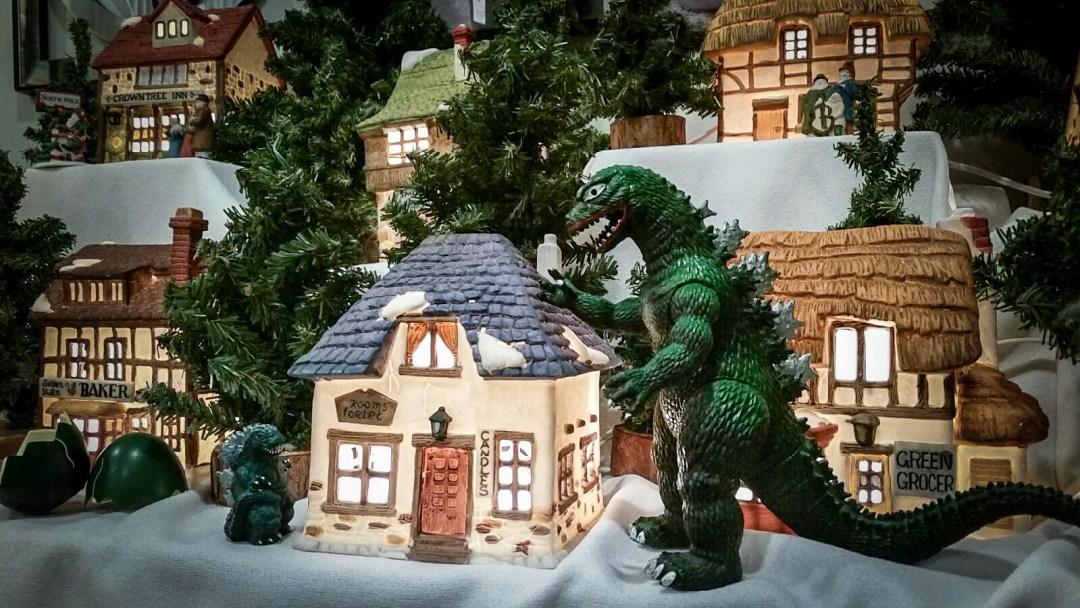 Christmas Godzilla 2