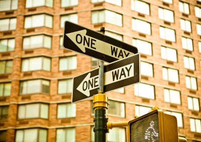 Very NY: Two One Way signs in Manhattan, 2006. | Jon Armstrong for Blurbomat.com