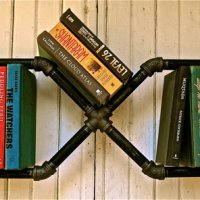 Plumber Bookshelves:  Rustic, Industrial Decor by Stella Bleu Design