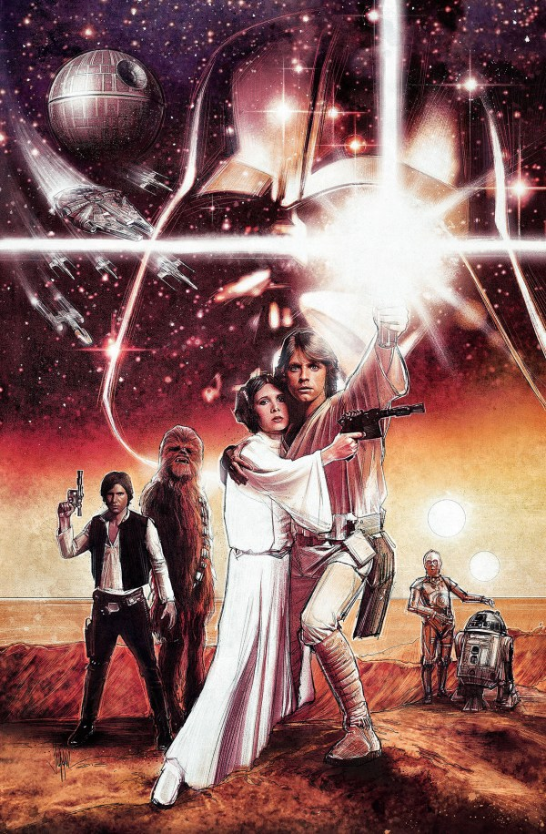 Topps Star Wars Illustrated Hope Featuring Fantastic Original Art Paul