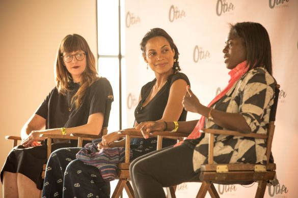 Rosario Dawson, Abrima Erwiah & Meilissa Giannini at The Other Festival | Photo by Cortney Armitage