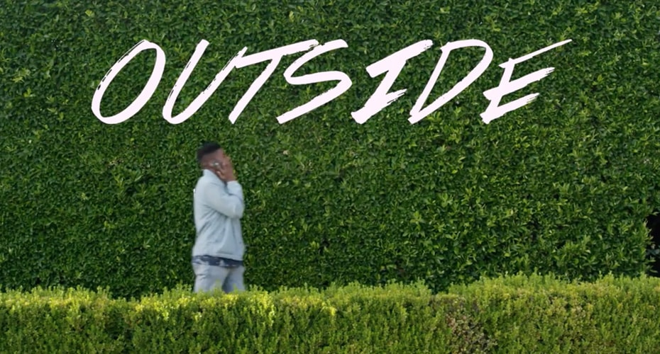 """DAVE B PREMIERES MUSIC VIDEO """"OUTSIDE"""""""