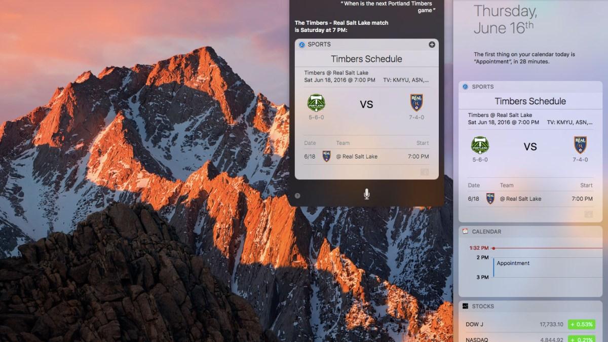 macOS Sierra preview: Siri and iCloud