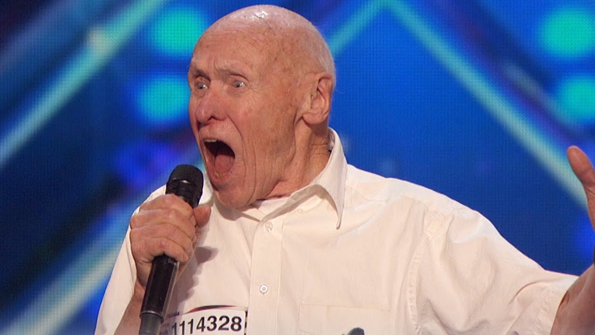 """Watch 82-Year-Old Singer Shocks the Room with a Heavy Metal Song This guys  is my fucking hero... """">"""
