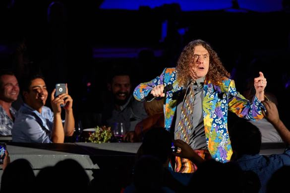 """Weird Al"" Yankovic at Hollywood Bowl 7/22/16. Photo by David Benjamin (@IAmDB)"
