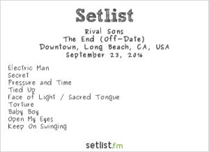 Rival Sons at Music Tastes Good 2016, September 23rd. Setlist.