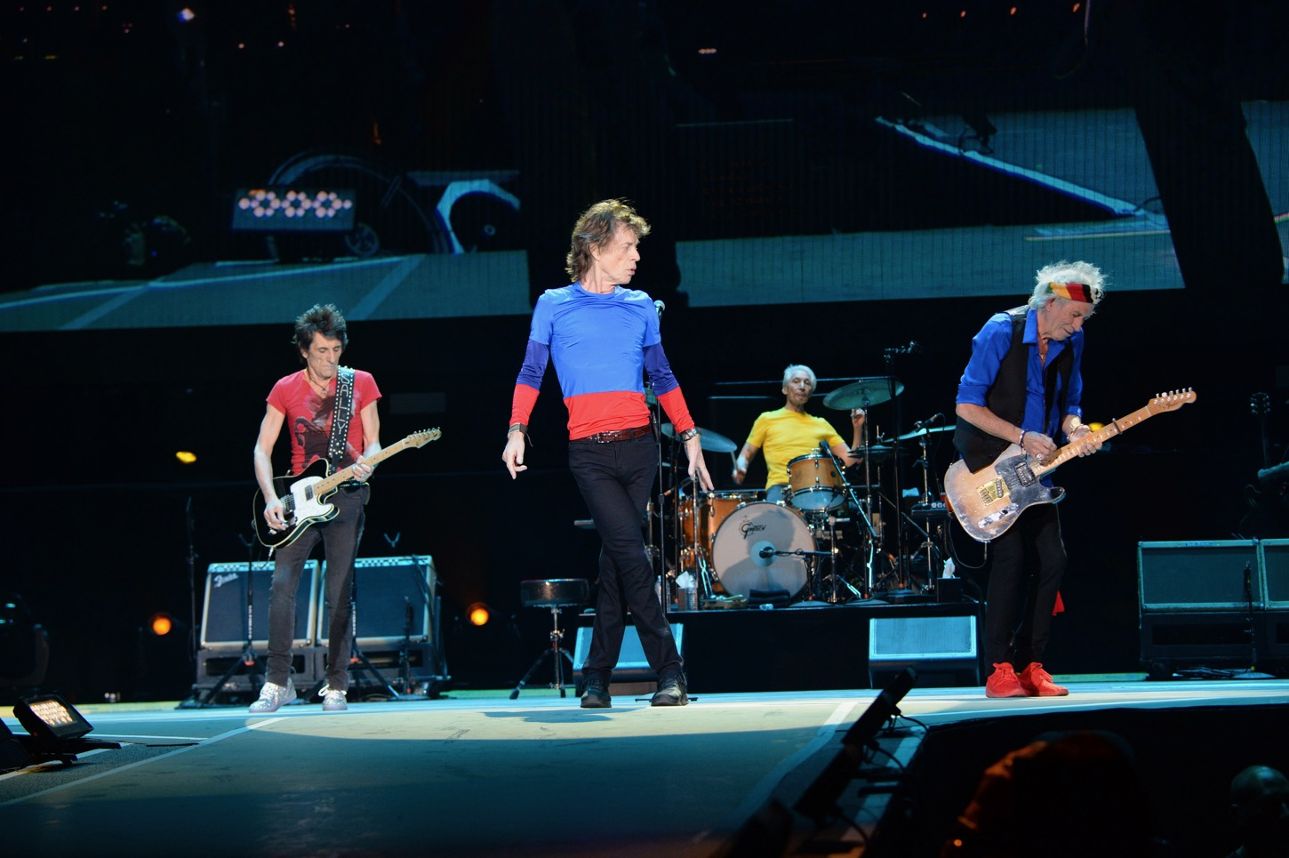 The Rolling Stones at Desert Trip at The Empire Polo Club on October 14, 2016 in Indio, California. Photo by Kevin Mazur for Desert Trip. Used With Permission.