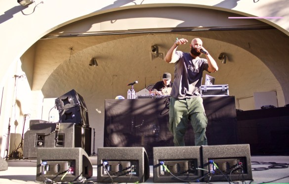 Homeboy Sandman @ Stones Throw Superfest @ Sycamore Grove Park 11/5/16. Photo by Derrick K. Lee, Esq. (@Methodman13) for www.BlurredCulture.com. This photo was obtained under the express authorization and license by Red Bull Media House North America, Inc.