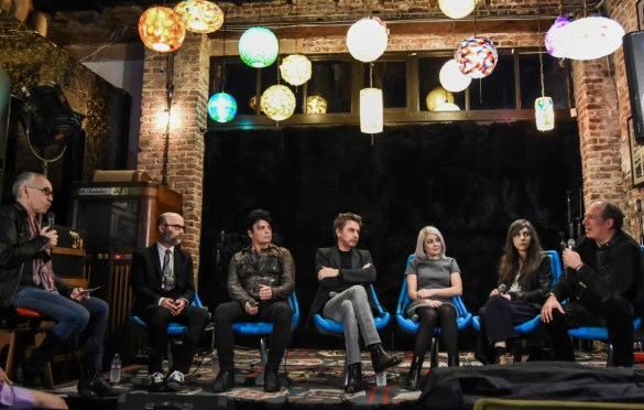 Jean-Michel Jarre in discussion with Hans Zimmer, Gary Numan, Moby, Julia Holter & Little Boots @ The Record Parlour 2/9/17. Photo by Constantin Preda (@ctpredaportraits) for www.BlurredCulture.com.