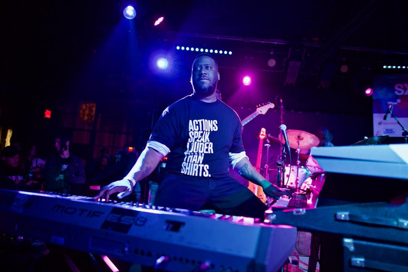 Robert Glasper & Friends // Heard's Music + Tech Mash-up presented by SPIN, VIBE and Sterogum @ Mazda Studdio at Empire Garage // SXSW 3/13/2017. Photo by Derrick K. Lee, Esq. (@Methodman13) for www.BlurredCulture.com.