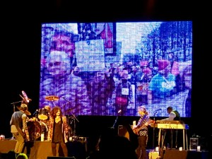 """""""For What It's Worth"""" with scenes of the DC Women's March in the background. Ann Wilson of Heart @ The Wiltern 3/12/17."""