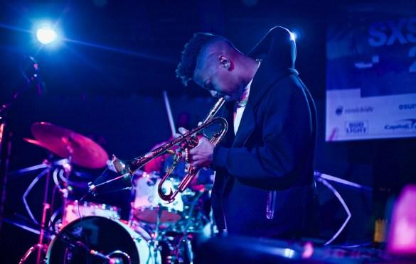 Christian Scott // Robert Glasper & Friends // Heard's Music + Tech Mash-up presented by SPIN, VIBE and Sterogum @ Mazda Studdio at Empire Garage // SXSW 3/13/2017. Photo by Derrick K. Lee, Esq. (@Methodman13) for www.BlurredCulture.com.