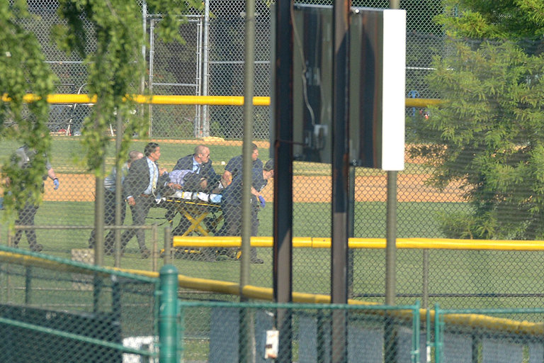 Video of Shooting At Republican Congressional Baseball Practice
