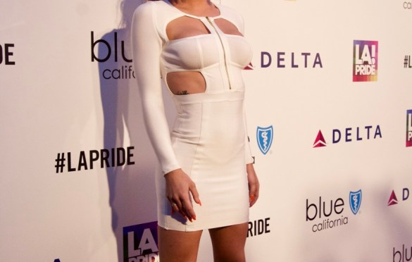 Gigi Gorgeous @ L.A. PRIDE 2017 // Red Carpet // Photo by Simone Jenkins (@simonemeetsworld) for Blurred Culture.