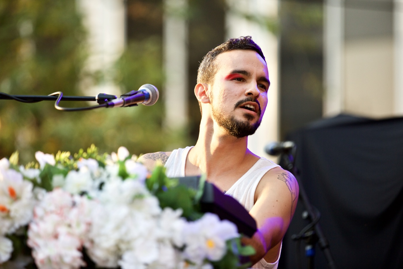 "Gabriel Garzón-Montano at KRCW/Annenberg's ""Sound In Focus"" 7/15/17. Photo by Derrick K. Lee, Esq. (@Methodman13) for www.BlurredCulture.com."