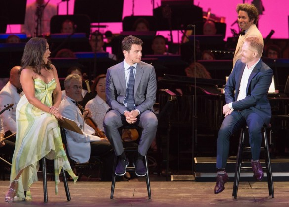 """Vanessa Williams, Jonathan Groff and Jesse Tyler Ferguson at """"Sondheim on Sondheim"""" @ The Hollywood Bowl 7/23/17. Photos by Craig T. Mathew and Greg Grudt/Mathew Imaging. Used with permission."""
