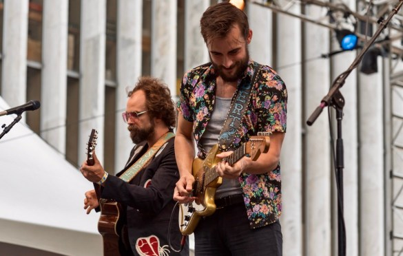 Traveller at AmericanaFest NYC @ Hearst Plaza 8/12/17. Photo by Vivian Wang (@Lithophyte) for www.BlurredCulture.com.