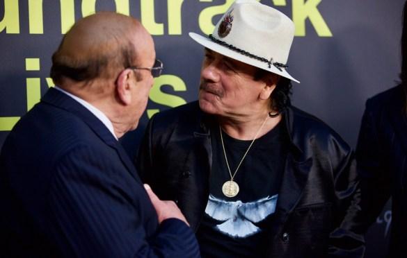 Clive Davis & Carlos Santana on the Red Carpet for