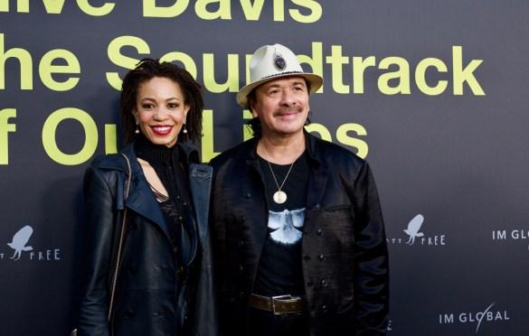Cindy Blackmon & Carlos Santana on the Red Carpet for