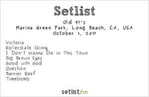 The Old 97's at Music Tastes Good 2017 10/1/17. Setlist.
