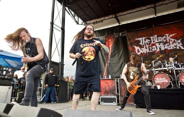 The Black Dahlia Murder @ Ozzfest Meets Knotfest 11/5/17. Photo by Derrick K. Lee, Esq. (@Methodman13) for www.BlurredCulture.com.