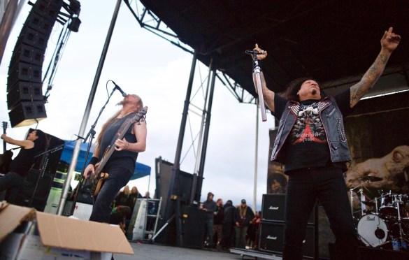 Testament @ Ozzfest Meets Knotfest 11/5/17. Photo by Derrick K. Lee, Esq. (@Methodman13) for www.BlurredCulture.com.