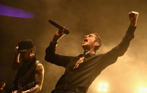 LOS ANGELES, CA - DECEMBER 08: Dave Navarro and Perry Farrell of Jane's Addiction performs onstage during the 2017 Rhonda's Kiss Benefit Concert at Hollywood Palladium on December 8, 2017 in Los Angeles, California.  (Photo by Emma McIntyre/Getty Images for Rhonda's Kiss). Used with permission.
