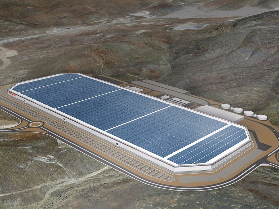 Drone Footage Shows Just How Huge Tesla's Gigafactory Really Is