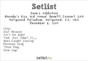 Jane's Addiction Setlist.