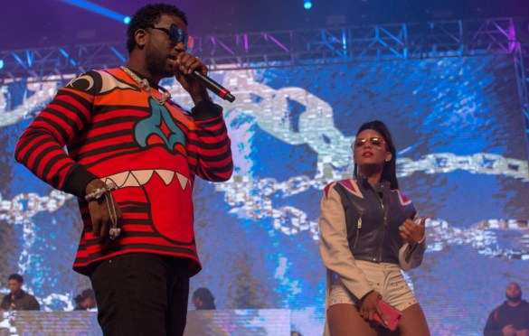 Gucci Mane &  Keyshia Ka'Oir @ Rolling Loud SoCal 2017. Photo by Markie Escalante (@Markie818) for www.BlurredCulture.com.