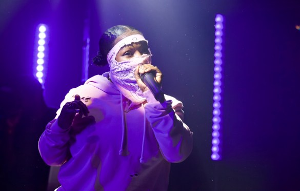 Leikeli47 for Girlschool @ Bootleg Theatre 2/4/18. Photo by Derrick K. Lee, Esq. (@Methodman13) for www.BlurredCulture.com.