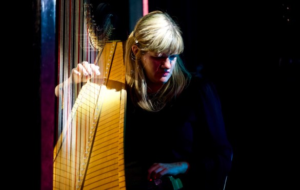 Mary Lattimore for Girlschool @ Bootleg Theatre 2/3/18. Photo by Derrick K. Lee, Esq. (@Methodman13) for www.BlurredCulture.com.
