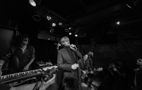 Keith Streng and Peter Zaremba of The Fleshtones for Alan Vega's Tribute @ Bowery Electric 1/25/18. Photo by Vivian Wang (@Lithophyte) for www.BlurredCulture.com.