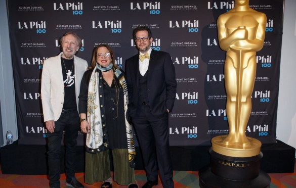 """Academy Governors Charles Bernstein (left), Laura Karpman (center), and Michael Giacchino prior to """"The Oscar Concert"""" presented by the Academy of Motion Picture Arts and Sciences on Thursday, February 28, at the Walt Disney Concert Hall in Los Angeles. The Oscars® will be presented on Sunday, March 4, 2018, at the Dolby Theatre® in Hollywood, CA and televised live by the ABC Television Network."""