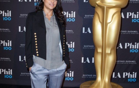 "Actor Michelle Rodriguez prior to ""The Oscar Concert"" presented by the Academy of Motion Picture Arts and Sciences on Thursday, February 28, at the Walt Disney Concert Hall in Los Angeles. The Oscars® will be presented on Sunday, March 4, 2018, at the Dolby Theatre® in Hollywood, CA and televised live by the ABC Television Network. Photo by Paul Hebert/ (C) A.M.P.A.S. Used with permission."